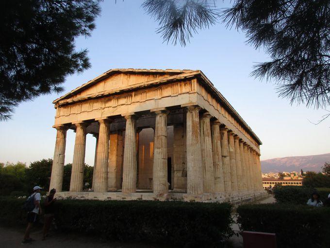 夕方:もう1つの遺跡の見所、「古代アゴラ」