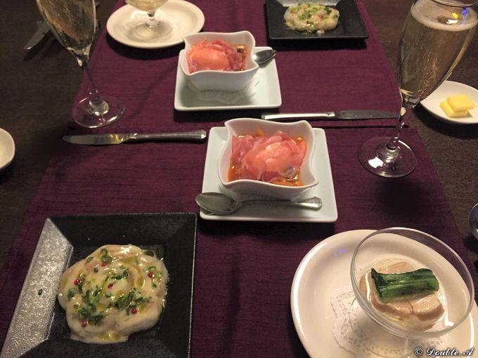 食事は趣向を凝らした伊豆自慢の山海食材を