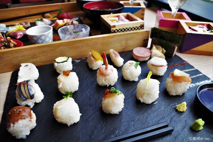 カワイイ!季節の地魚&野菜が手毬寿司に