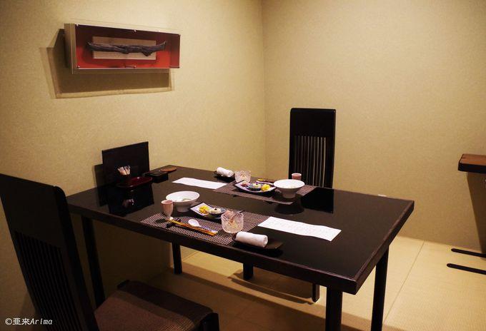 贅を尽くした食事をプライベート個室で
