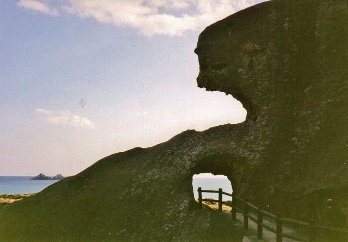 猿が怖くて引き返した崖を人間が通る