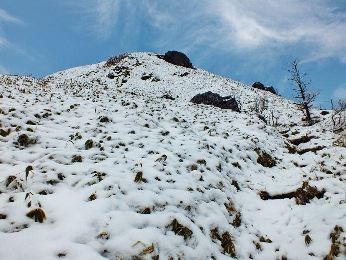 足跡のない新雪に自分の足跡をつける