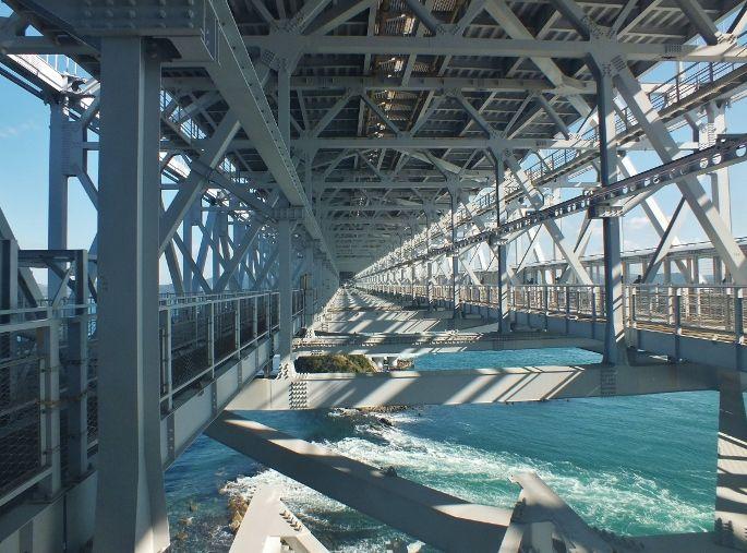 四国新幹線の鉄橋保線路予定空間が遊歩道に