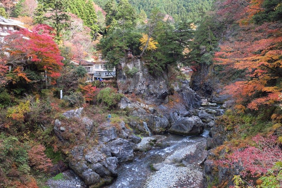 奥多摩の秋の自然美