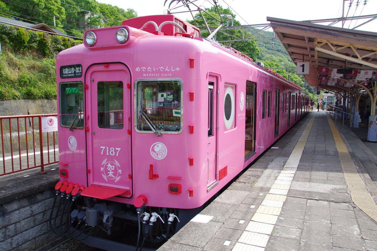 南海電鉄のあたらしい観光電車「めでたいでんしゃ」