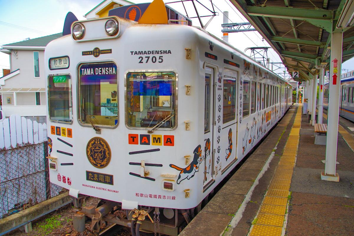 和歌山電鐵のリニューアルデザイン電車の代表「たま電車」