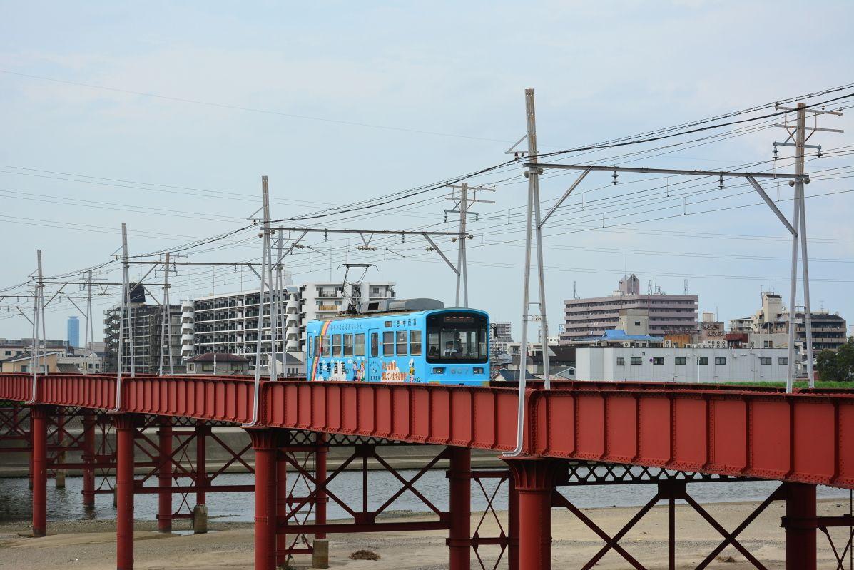 近代土木遺産の「大和川橋梁」