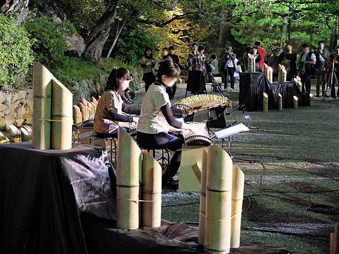 「竹燈夜」ではクラシックミュージックなどの音楽イベントも