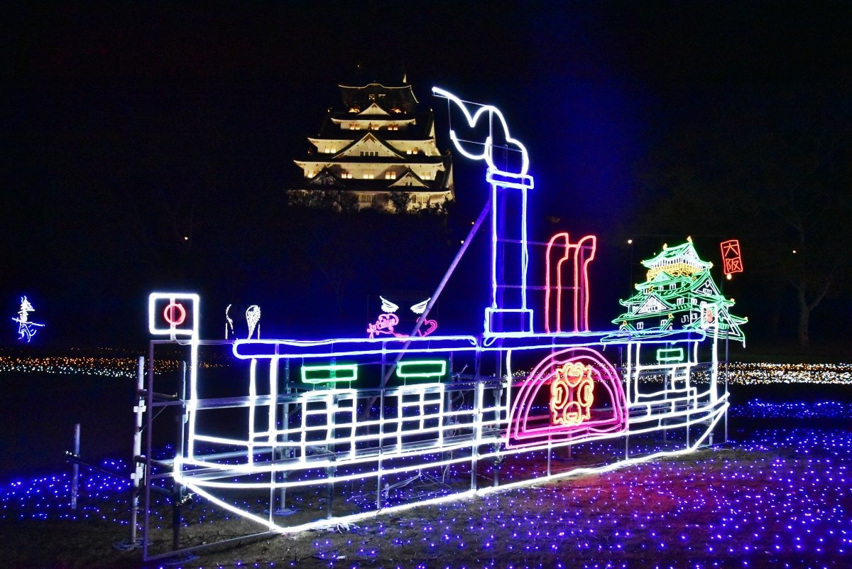 大正浪漫の世界!「大阪城イルミナージュ」で大大阪時代を体験