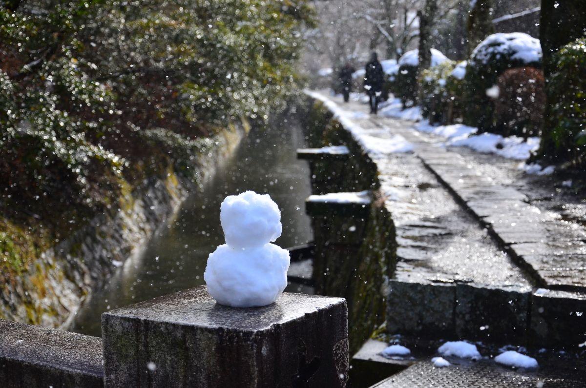 雪の華が美しい「哲学の道」