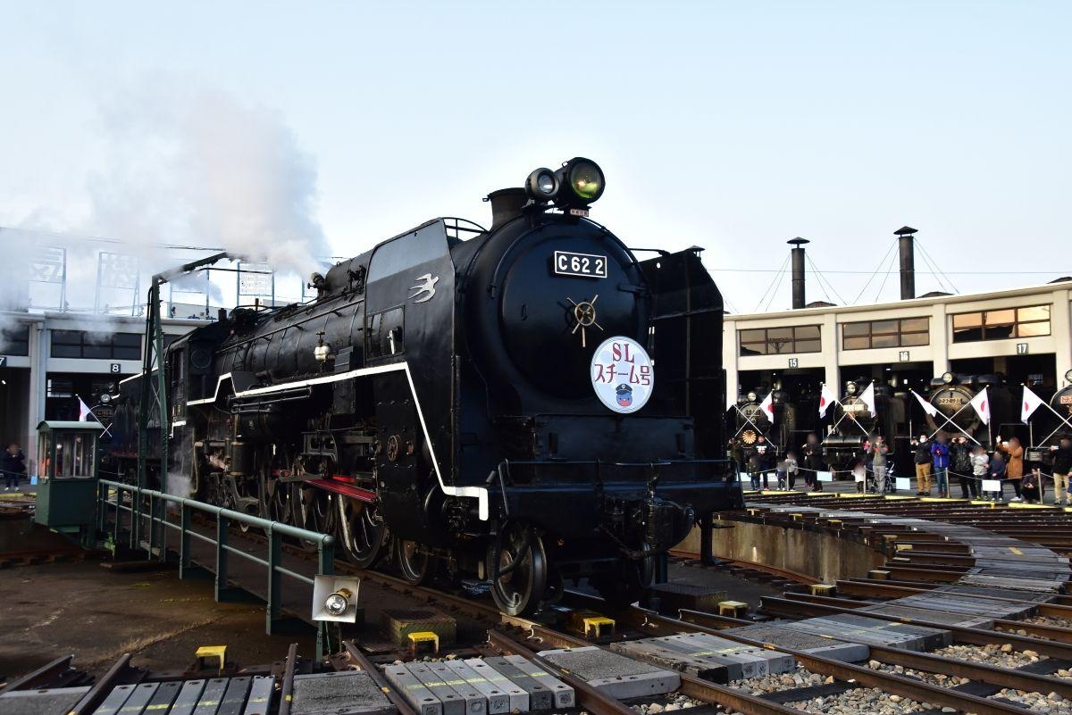 日本一のSLの殿堂「京都鉄道博物館」SLスチーム号に乗ろう!