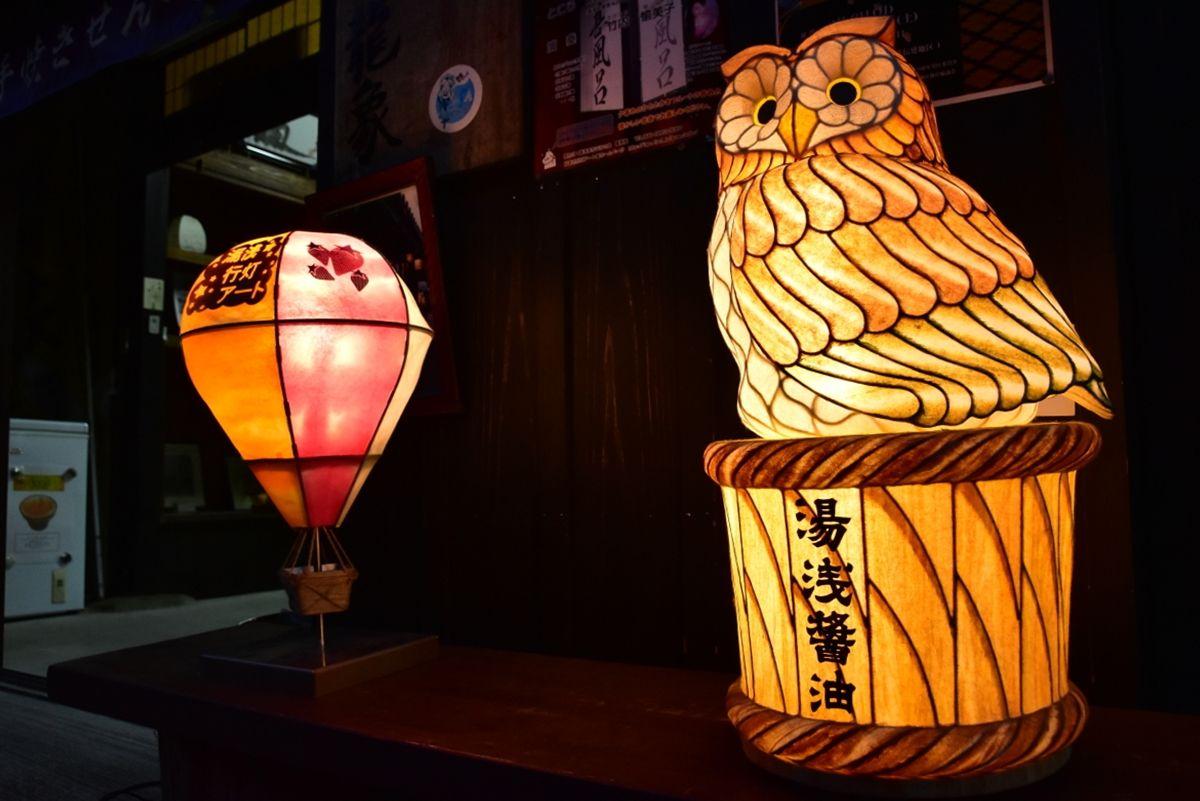さまざまな個性豊かな行灯アートを楽しもう