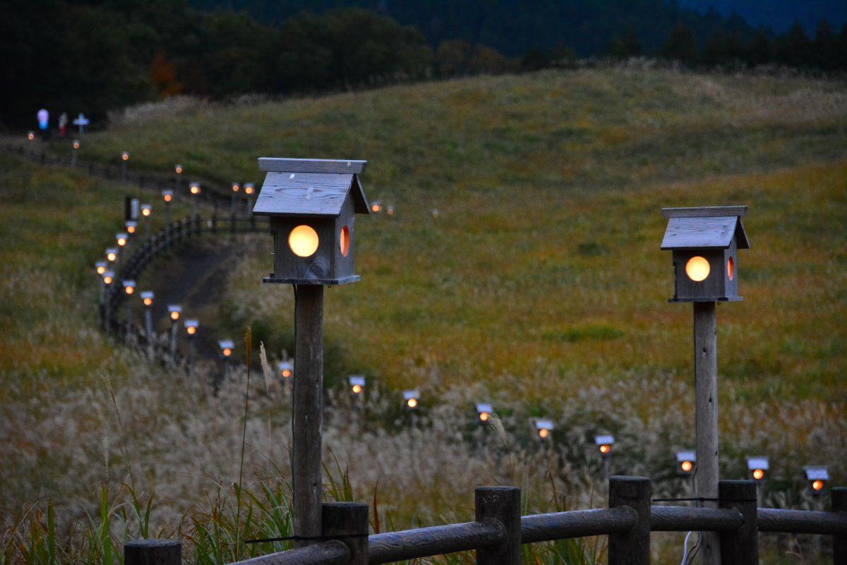幻想的な曽爾高原山灯りとは