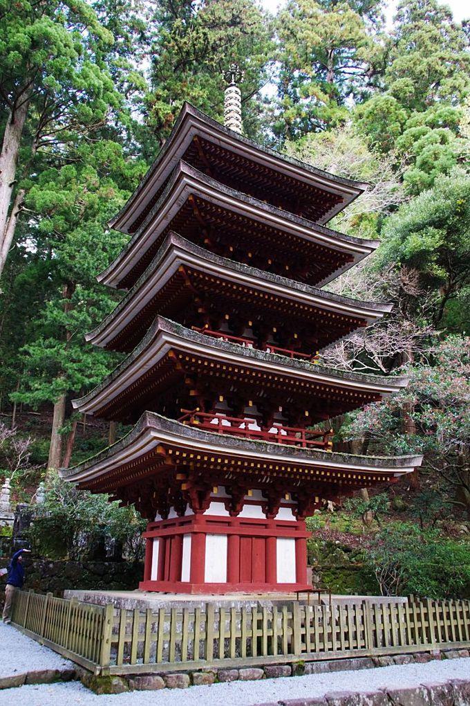 室生寺のシンボル国宝「五重塔」
