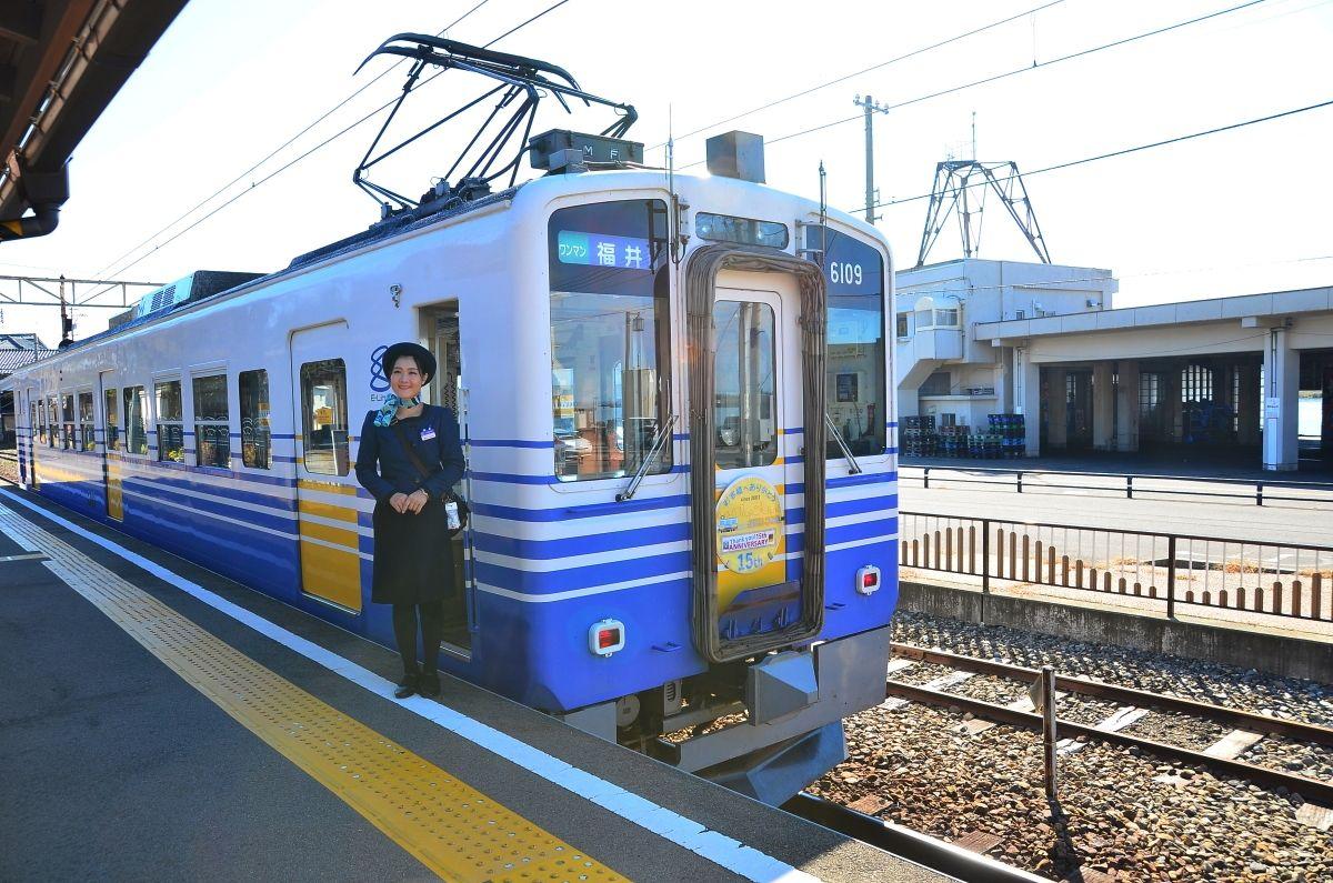 アテンダントも乗務・福井「えちてつ」三国芦原線の旅が楽しい