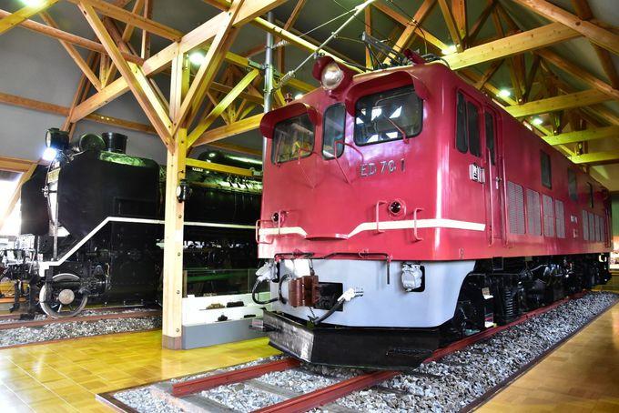 「北陸線電化記念館」で唯一現存するED70形交流電気機関車