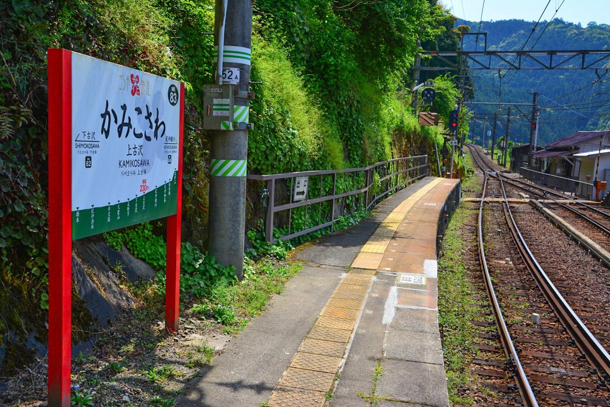 高野山森林鉄道跡ハイクの出発点「上古沢駅」