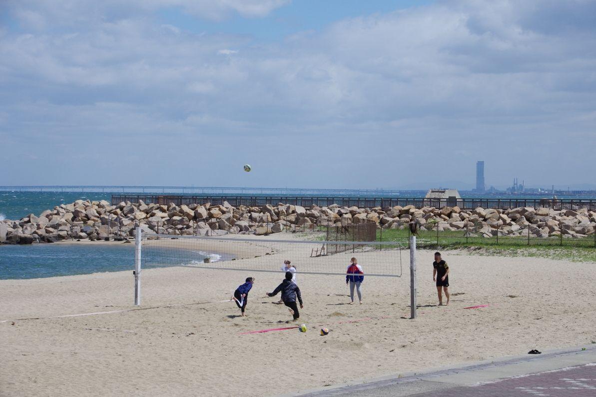 国内屈指のビーチスポーツ競技場「潮騒ビバレー」