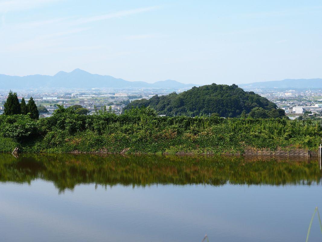 彼岸花の名所「井寺池」では大パノラマも
