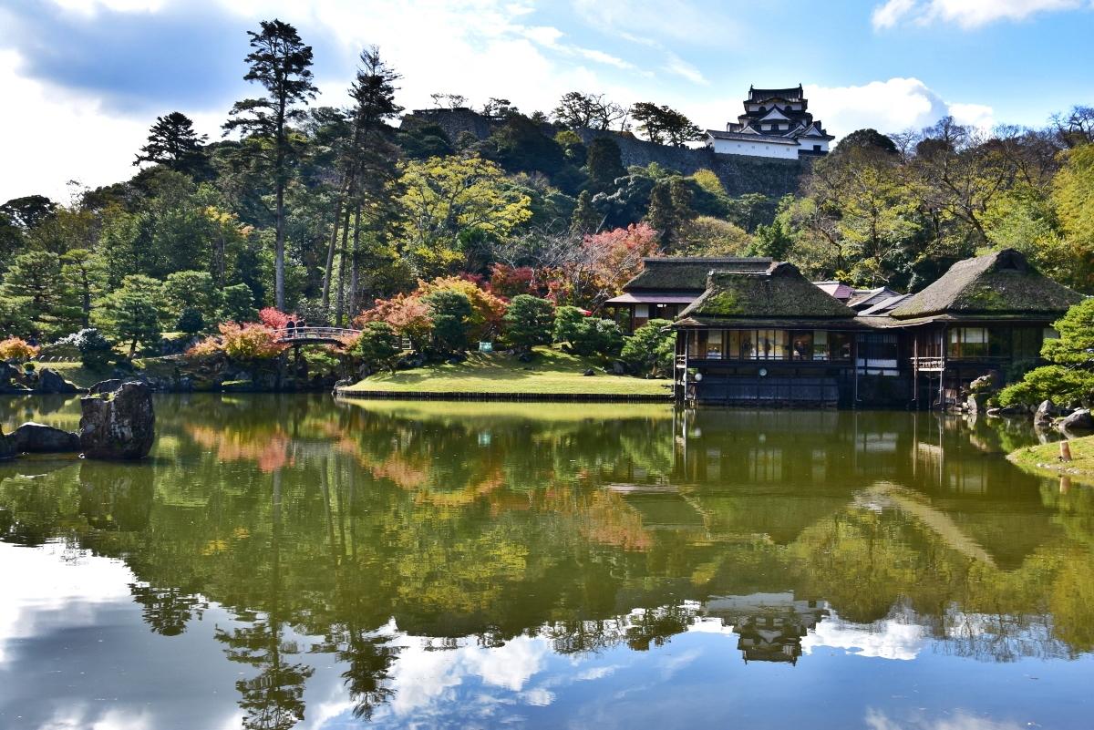 紅葉の名所としても知られる彦根城「玄宮楽々園」