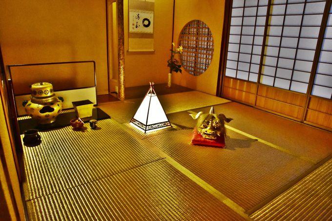 「黄金畳の茶室」は日本でも懐華樓にしかない唯一無二のもの