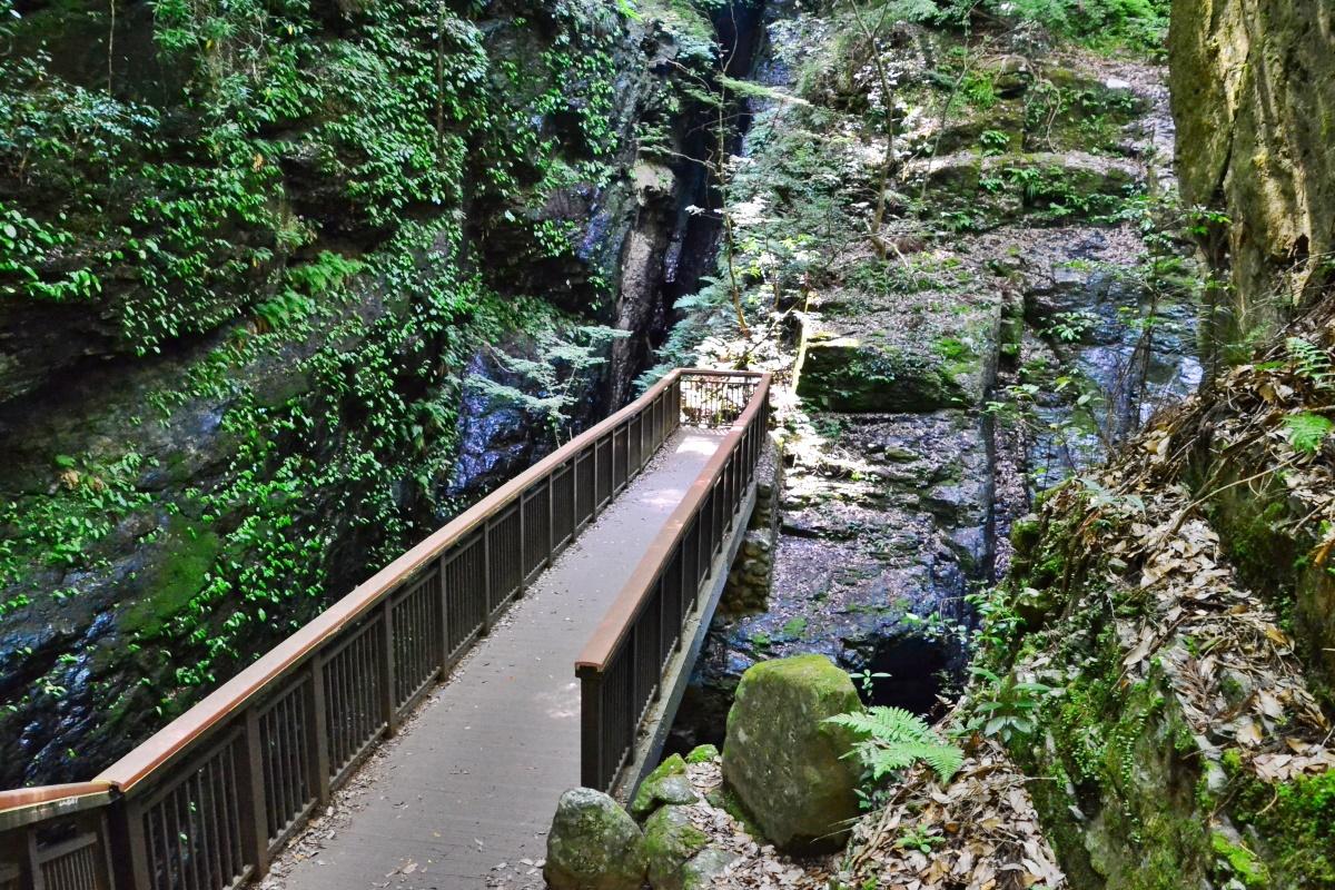 深山幽谷の雰囲気がただよう「下の滝見台」