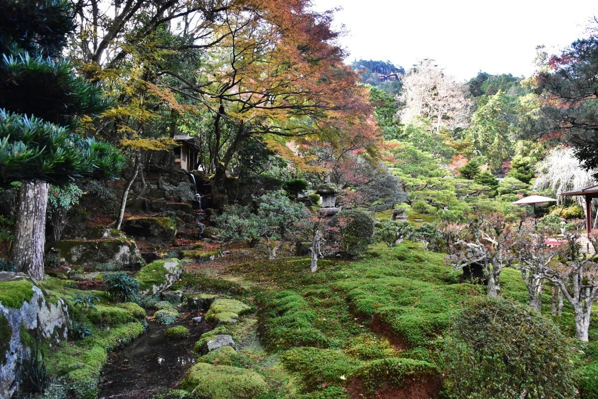 リフレクション撮影のあとは国指定名勝の回遊式庭園を散策