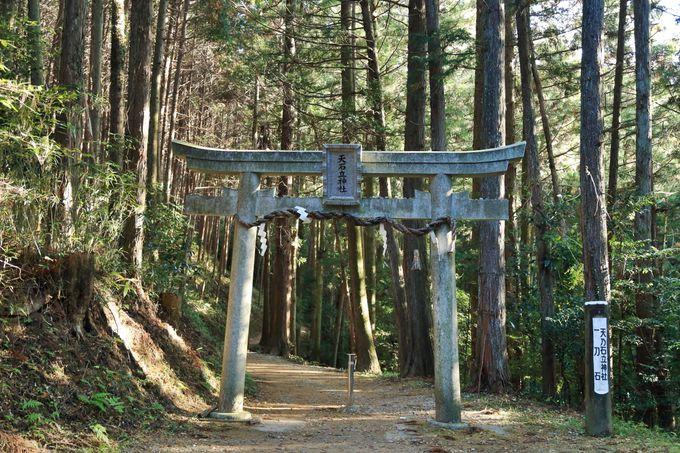 """""""一刃石""""への入口、柳生家修練の場所「天乃石立神社」"""
