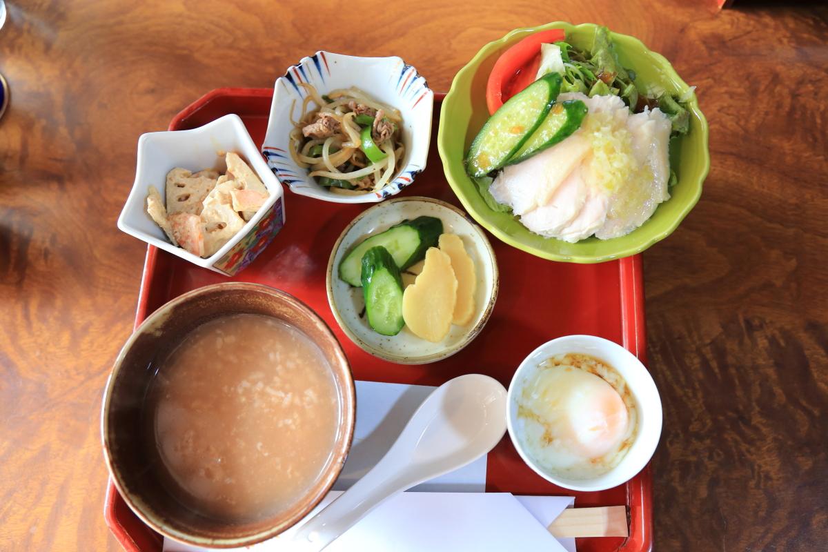 「天野米のお食事セット」で天野の魅力を満喫