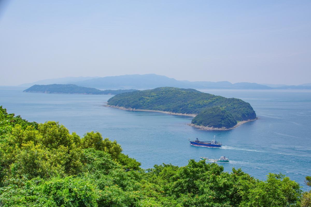紀淡海峡に浮かぶ友ヶ島に築かれた「友ヶ島砲台群」