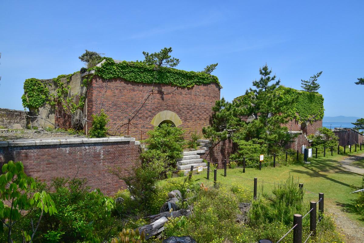 ヨーロッパのお城をイメージさせる「第二砲台跡」