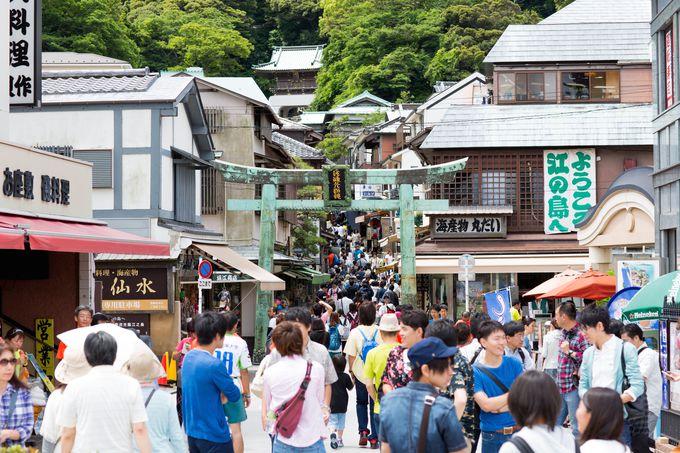 午後:江ノ島神社で参拝〜参道〜旅の締めくくりはモノレール!