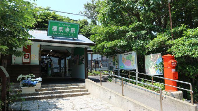 撮影スポットたくさん!旅のはじまりは江ノ電極楽寺駅