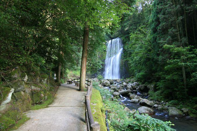 駐車場から徒歩3分!繊細で美しき滝