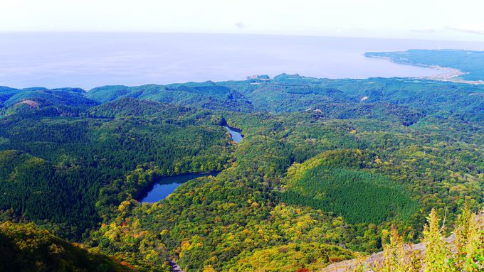 十二湖の名付け親「大崩展望所」