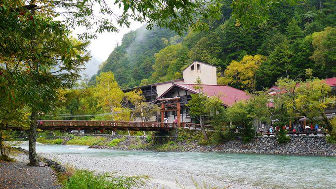 雨の日は人気の「河童橋」が独り占めできるかも