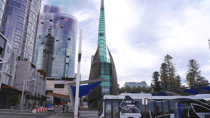 パースのシンボル・ベルタワーとユニークなオブジェたち