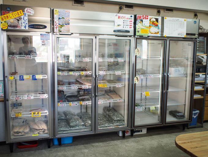 特殊冷凍技術で「生シラス」のお持ち帰りも可能です