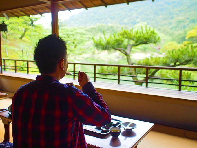 景観を独占!離れ茶室「花園亭」で特別な朝ごはん