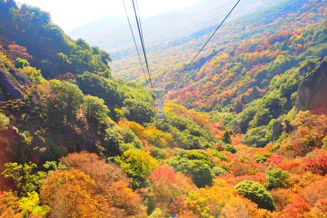 広角レンズがおすすめ山頂からの絶景「寒霞渓」