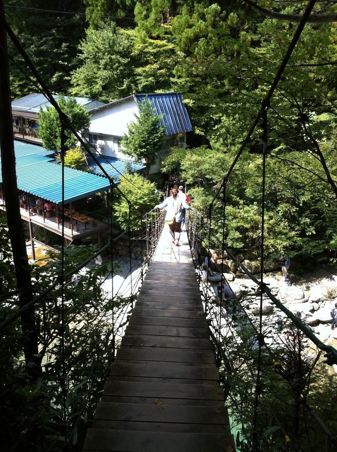 つり橋を渡ると…そこは楽園でした