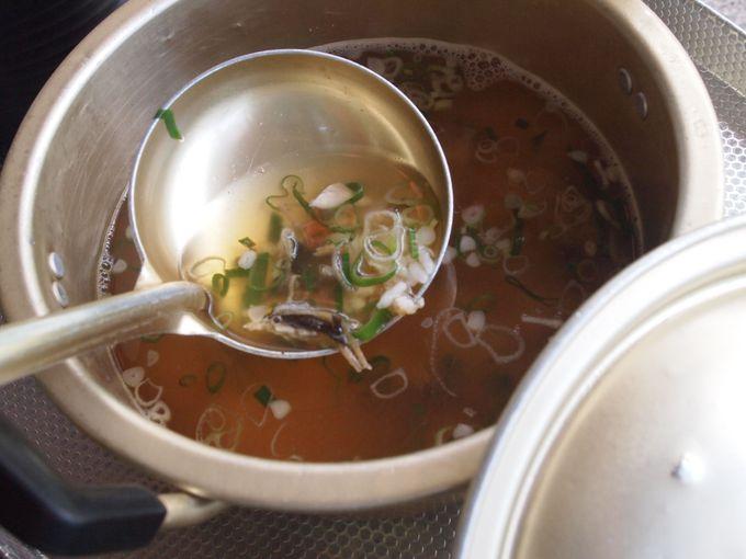 シメの「アユ雑炊」はバツグンに旨い!