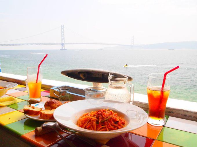 【西舞子・フィエスタ】明石海峡を眺めながらお食事ができるカフェでまったり