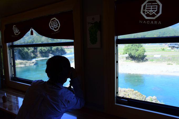 エメラルドブルーの長良川を楽しむなら「湯の洞温泉口駅」〜「郡上八幡駅」の間