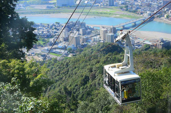 午後:岐阜城にのぼって市内を眺める