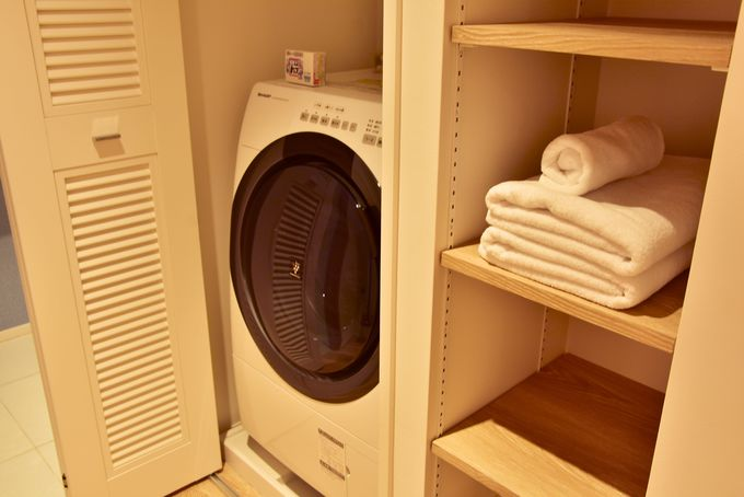 キッチン周りや家電が充実しているのが嬉しい