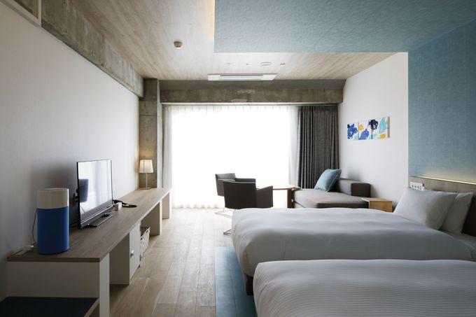 広い客室が特徴。リゾートの別荘で過ごすような滞在が可能!