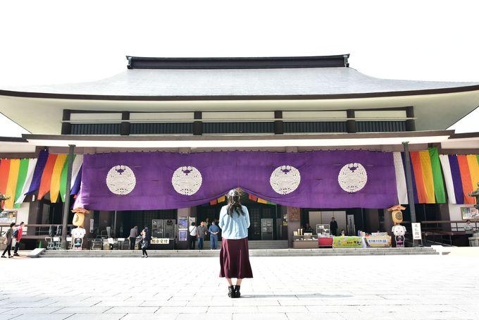 日本初の寺院山門一体となった光景は圧巻!