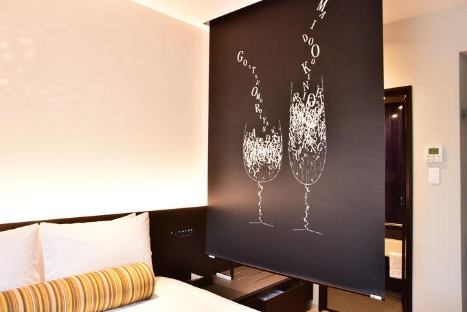客室でも感じられる大阪万華鏡の世界観
