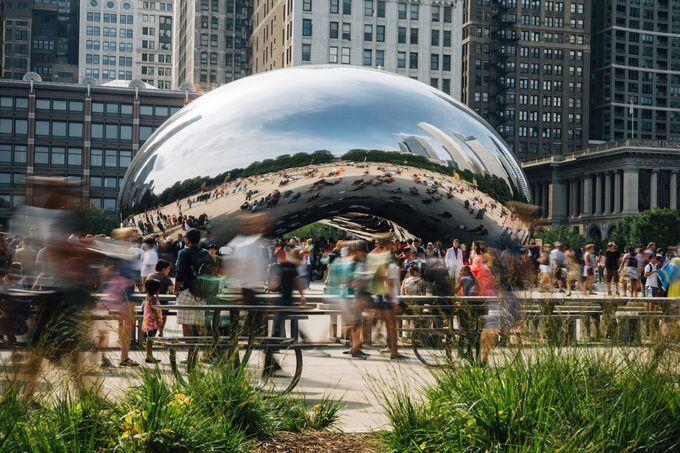1. シカゴのシンボル、ミレニアムパークで自然と都会とアートを満喫する